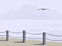 Frontière de sécurité de rivage Photographie stock