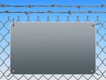 Frontière de sécurité de treillis métallique Photographie stock libre de droits