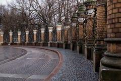 Frontière de sécurité du jardin de Mikhailovsky Image stock
