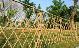 Frontière de sécurité en bambou Photo libre de droits