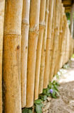 Frontière de sécurité en bambou Image libre de droits