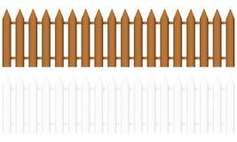 Frontière de sécurité en bois illustration de vecteur