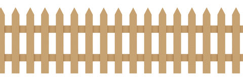 Frontière de sécurité en bois illustration libre de droits