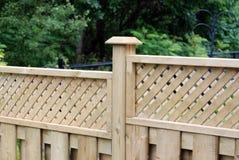Frontière de sécurité en bois Photographie stock libre de droits