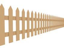 Frontière de sécurité en bois 2 illustration stock
