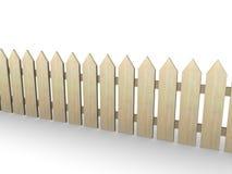 Frontière de sécurité en bois Image stock