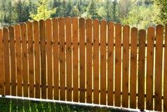 Frontière de sécurité en bois Image libre de droits