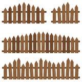 Frontière de sécurité en bois Barrière en bois sur le fond Frontière de sécurité en bois de Brown Images libres de droits