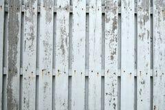 Frontière de sécurité en bois blanche Images libres de droits