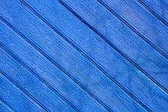 Frontière de sécurité en bois bleue photo stock