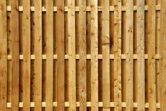 Frontière de sécurité en bois d'intimité Photographie stock