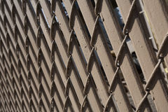 Frontière de sécurité en bois de Brown images stock