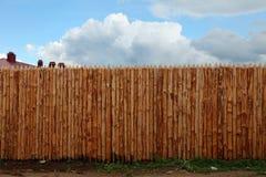 Frontière de sécurité en bois de fond Images libres de droits