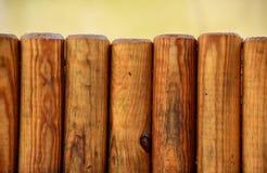 Frontière de sécurité en bois de jardin Images libres de droits