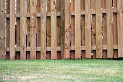 Frontière de sécurité en bois de panneau à bord Photo libre de droits