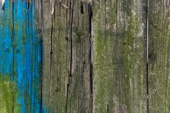 Frontière de sécurité en bois peinte photos stock