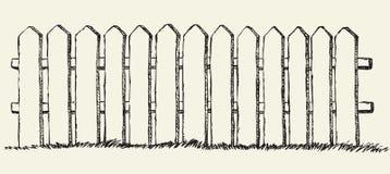 Frontière de sécurité en bois Retrait de vecteur Photos stock