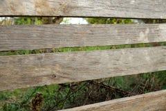 Frontière de sécurité en bois rurale Photos libres de droits