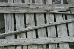 Frontière de sécurité en bois superficielle par les agents Photos libres de droits