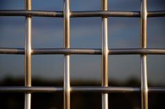 Frontière de sécurité en métal photo libre de droits