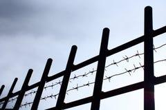 Frontière de sécurité et bavure Image libre de droits