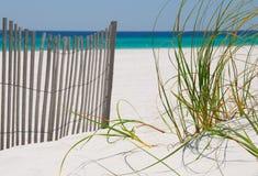 Frontière de sécurité et herbes de plage image libre de droits