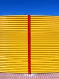 Frontière de sécurité jaune Images stock