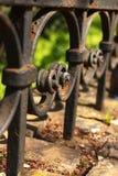 Frontière de sécurité noire de fer Photographie stock