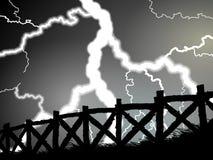 Frontière de sécurité pendant un orage Photos libres de droits