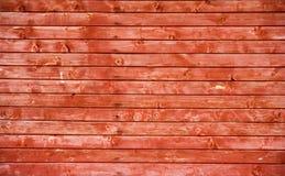 Frontière de sécurité rouge en bois Photo stock