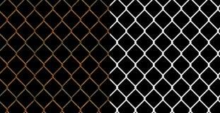 Frontière de sécurité rouillée de maillon de chaîne de fil Photos stock