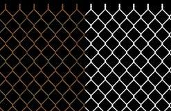 Frontière de sécurité rouillée de maillon de chaîne de fil Images stock