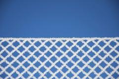 Frontière de sécurité, texture de l'hiver, fond Photos stock
