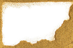 Frontière de sable Photographie stock