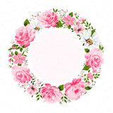 Frontière des fleurs avec l'endroit pour un texte Images stock