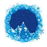 Frontière des flocons de neige colorés Photos stock