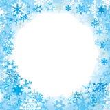 Frontière des flocons de neige colorés Photo libre de droits