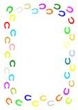 Frontière en fer à cheval colorée. Photographie stock