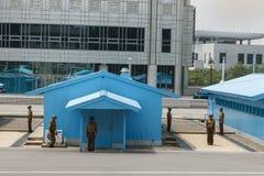 Frontière entre la Corée du Sud du nord et photos stock