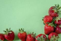 Fronti?re et copyspace de fraise image libre de droits