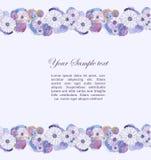 Frontière florale d'aquarelle Photos libres de droits