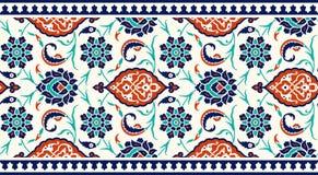 Frontière florale pour votre conception Ornement sans couture d'ï de ¿ de tabouret turc traditionnel de ½ Iznik illustration libre de droits