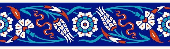 Frontière florale pour votre conception Ornement sans couture d'ï de ¿ de tabouret turc traditionnel de ½ Iznik illustration de vecteur