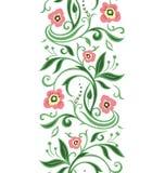 Frontière florale verte de ressort Image libre de droits