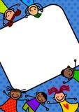 Frontière géniale d'enfants illustration libre de droits