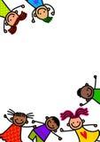 Frontière géniale d'enfants illustration stock