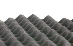 Frontière grise de mousse de coquille d'oeuf sur le fond blanc Photographie stock