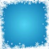 Frontière grunge de flocon de neige illustration de vecteur