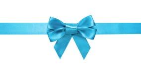 Frontière horizontale d'arc azuré de ruban bleu Photos stock