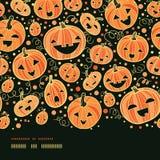 Frontière horizontale de potirons de Halloween sans couture illustration de vecteur